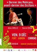 Étape musicale - 9 déc 2011 - Daniel Biga & Alex Grillo «Dernier des Mohicans, avant-dernier des Occitans»