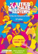 Affiche Joutes musicales de printemps - 20e édition - Festival des musiques du monde - 2-3-4 Juin 2017
