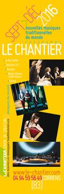 Programme Le Chantier Sept>Déc 2016