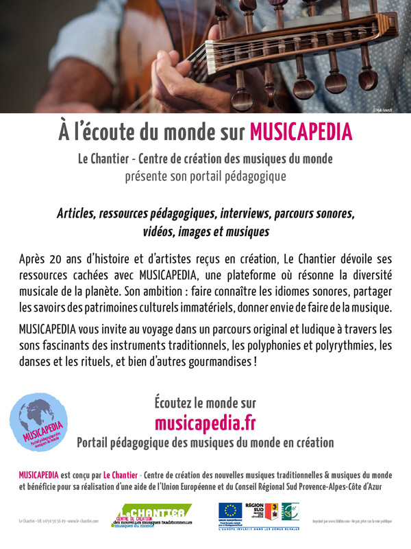 Musicapedia - Flyer de présentation