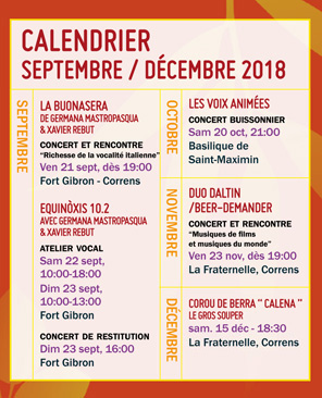 Le Chantier - programmation sept>d�c 2018