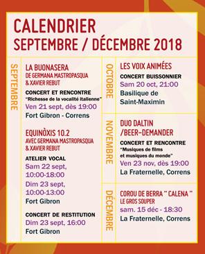 Le Chantier - programmation sept>déc 2018