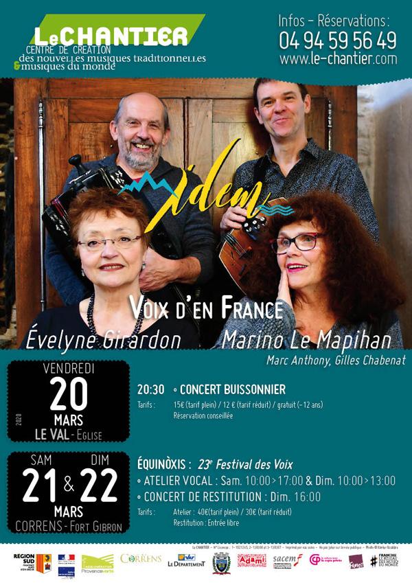 Affiche Evelyne Girardon - IDEM - Création au Chantier - 20-21-22 mars 2020