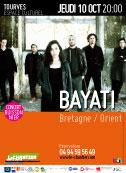 Bayati (Bretagne/Orient) : Concert buissonnier du Chantier à Tourves, 10 octobre 2013