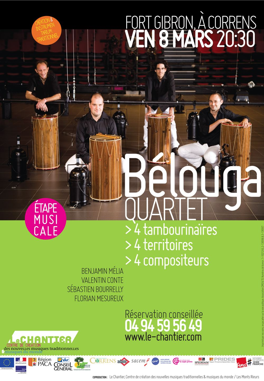 Bélouga Quartet - Étape musicale au Chantier - 8 mars 2013