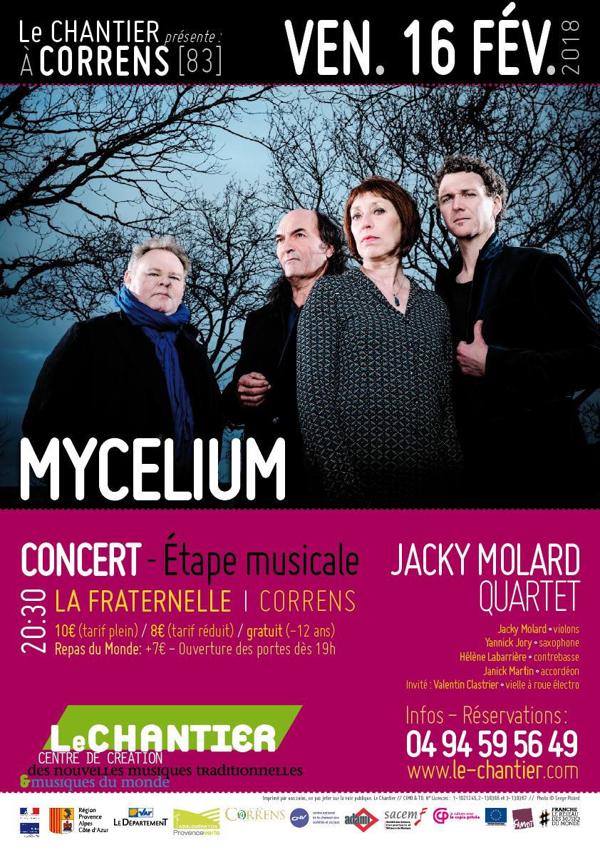 Jacky Molard Quartet - Mycelium au Chantier