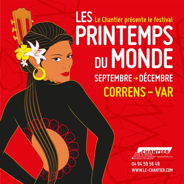 Festival Les Printemps du monde : Les musiques du monde en création : 29-30-31 mai 2020, à Correns, Provence Verte, Var