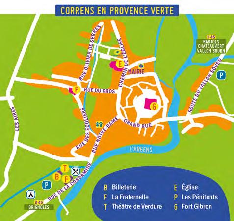 Plan du festival du Chantier, à Correns (Var)